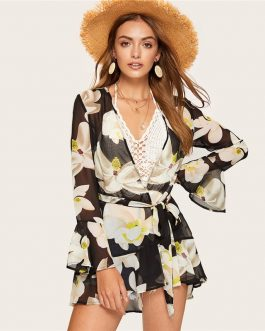 Women Long Sleeve Casual Vacation Beach Kimonos