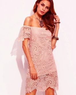 Women Off The Shoulder Slim Fit Lace Dress