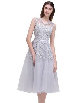 Women lace Beading party dress Mid-Calf Tank Vintage Dress