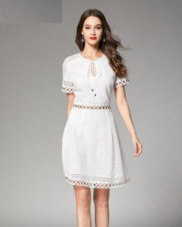 Women lace dress Elegant vestidos party short dress