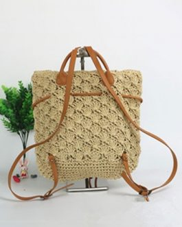 Women's Beach Backpack Crochet Drawstring Bags