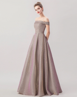 Elegant Strapless Long Off the Shoulder Dress Prom Party Ball Gowns