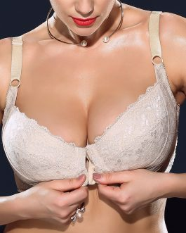 Front Closure Plus Size Ultra Thin Minimizer Underwire Bra