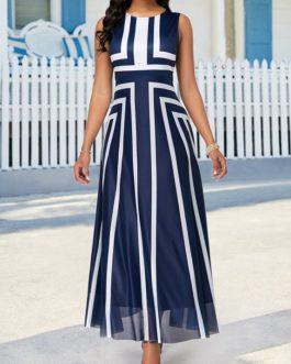 High Waist Sleeveless Maxi Dress