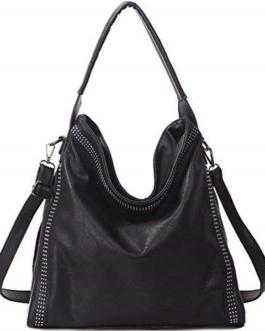 Rivet Large Capacity Handbag PU Leather Shoulder Bag