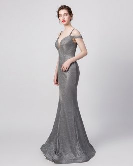 Sexy Off the Shoulder Mermaid Evening Dress Long Party Gown
