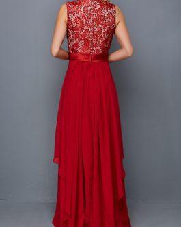 Sleeveless High Waist Maxi Dress