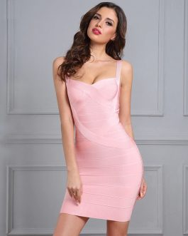 Women Bandage Vestidos Sexy Bodycon Party Dress
