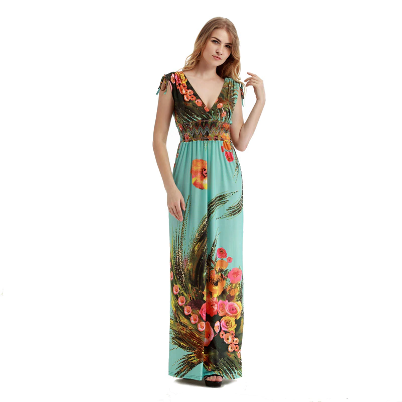 Women Bohemian Vestidos long Plus size Maxi Dress