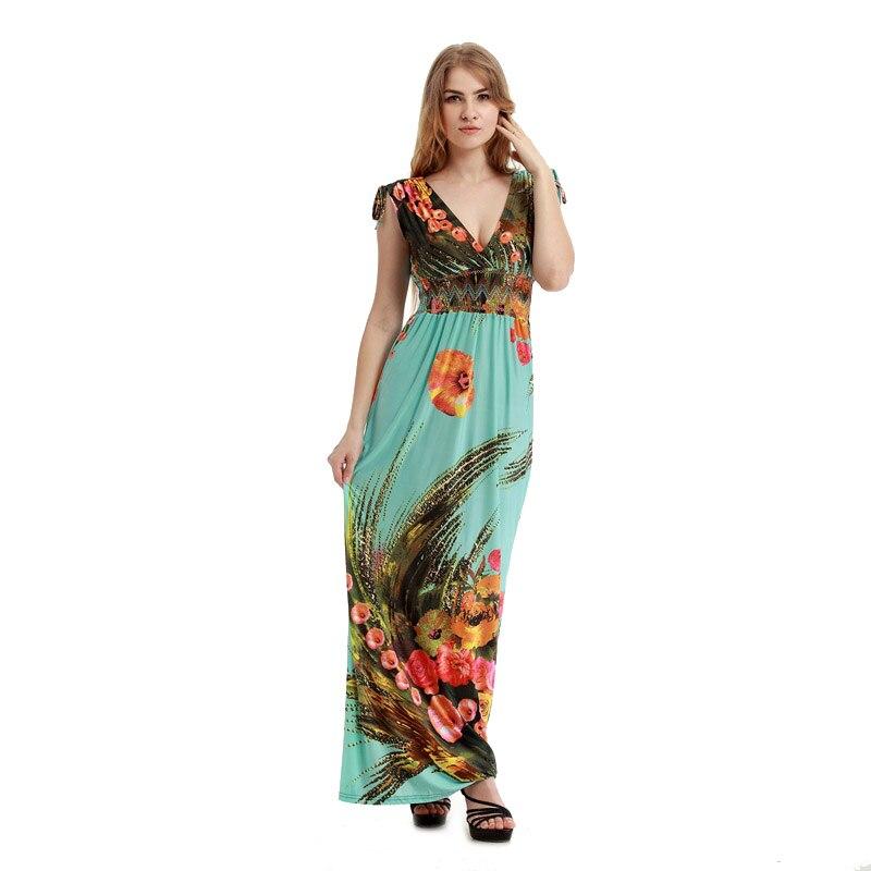 Women Bohemian Vestidos long Plus size Maxi Dress - Power Day Sale