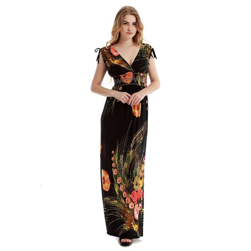 Vestidos Bohemian Plus Size Women Long Maxi Dress YbgI67yfv