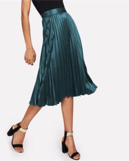 Women Clothing Plain Party Skirt Casual Full Length Skirt