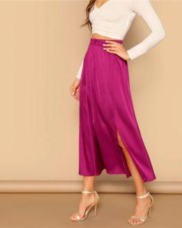 Women Elegant Long Shift Party Skirts