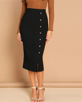 Women Elegant Office Lady Bodycon Pencil Skirts