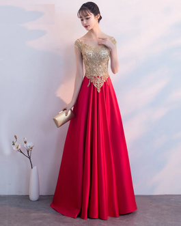 Women Embroidery sexy vestidos A-Line long party dress