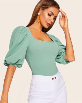 Women Half Sleeve Elegant Workwear T-shirt