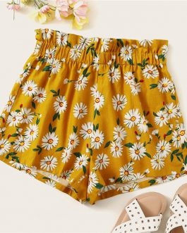 Women High Waist Beach Style Casual Shorts