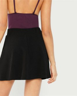 Women High Waist Short Minimalist Skirt