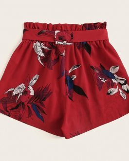 Women High Waist Wide Leg Bohemian Shorts