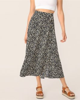Women Multicolor High Waist Shift Skirts