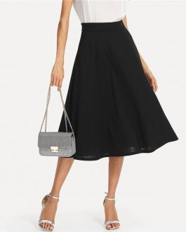 Women Office Lady Workwear Solid Skirts