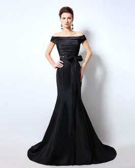 Women Sexy Off the Shoulder Long Mermaid Formal Party Gowns