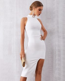 Women Sexy Sleeveless Bandage Hot Bodycon Tank Party Dress