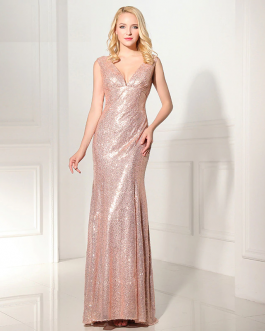 Women Shining Mermaid Evening Dress Formal Special Occasion Party Gowns