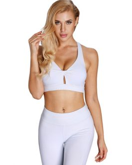 Women V Neck Twisted Crop Top