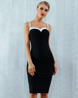 Women Vestidos Sexy Evening Party Bodycon Bandage Club Dress