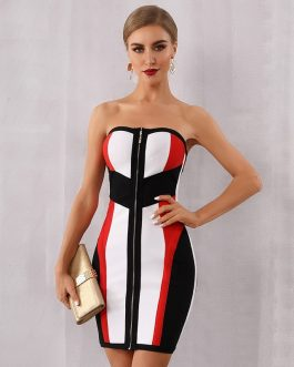 Women Vestidos Sexy Evening Party Bodycon Bandage Dress