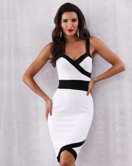 Women Vestidos Spaghetti Strap Sexy Bodycon Party Dress