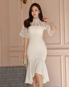 Women vestido lace bodycon short dress sexy club party dress