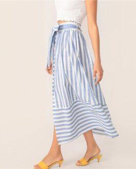 Womens Elegant Casual Straight Long Skirt