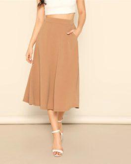 Women Elegant Casual Streetwear Midi Skirt