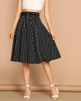 Womens Elegant Casual Streetwear Midi Skirt