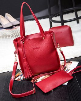 3 PCS Women PU Leather High-end Crossbody Bag Dual-use Handbags