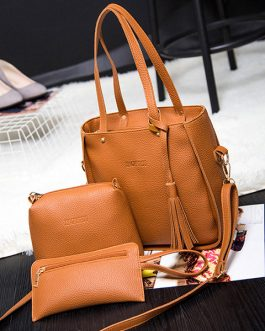 3 PCS Women PU Leather High-end Crossbody Bag Dual-use Handbags