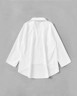 Casual Long Sleeve Ladies Solid Loose Blouses