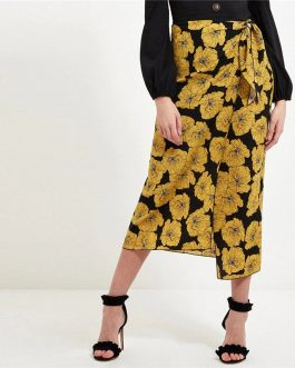 Casual Multicolor Asymmetrical Hem Women Skirt