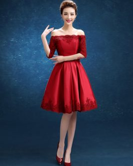 Cocktail Short Party Dress Off The Shoulder Lace Homecoming Dress