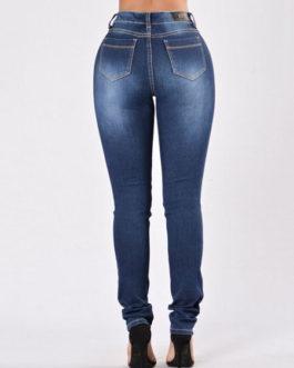 Denim Jeans Women's Ripped Skinny Long Jeans
