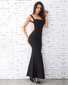 Elegant Sexy Spaghetti Strap Celebrity Long Maxi Dress