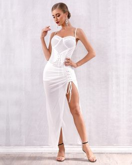 Elegant Vestidos Sexy Spaghetti Strap Celebrity Club Dress