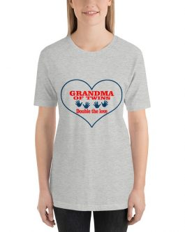 Grandma of twins-double love Short sleeve t-shirt