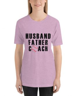 Husband father coach-baseball short sleeve t-shirt