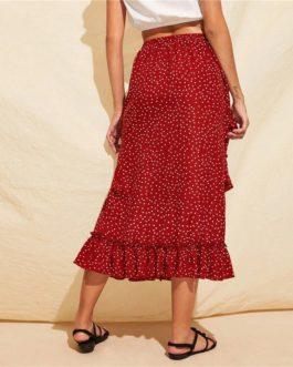 Mid Waist Straight Elegant Skirts