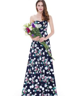 Strapless Sweetheart Sleeveless Floor Length Party Dress