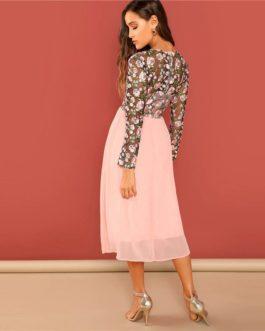 Women A-Line Long Elegant Dresses