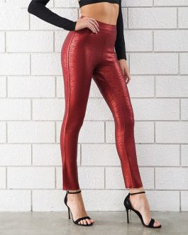 Women Bandage Sexy Skinny  Club Pencil Pants